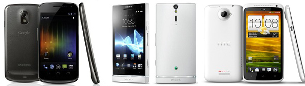 HTC-One-X-Samsung-Galaxy-Nexus-Sony-Xperia-S copia