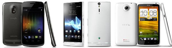 HTC-One-X-Samsung-Galaxy-Nexus-Sony-Xperia-S copia