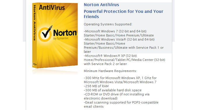 free norton antivirus download for windows xp
