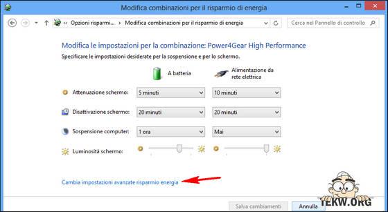 risparmio energetico PC