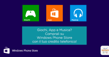 Wind: credito telefonico per acquisti su Windows Phone