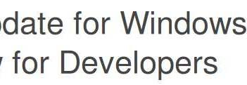 WP 8.1.1 Developer Preview al via l'update 1