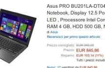 ASUS ASUSPRO BU201LA in Italia a 850 euro