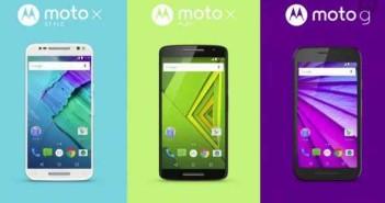 Motorola Moto G, Moto X Play e Moto X Style: specifiche e prezzi ufficiali