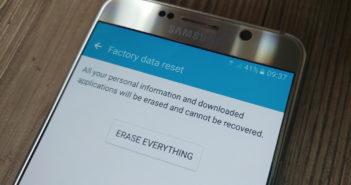 Come cancellare tutti i dati
