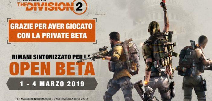 Beta pubblica the division 2