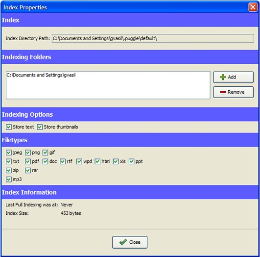 Puggle3 Puggle – Il motore di ricerca interno per i file del nostro hard disk!