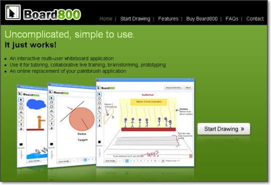 Board800 lavagna interattiva per disegnare e condividere for Strumento di disegno di architettura online