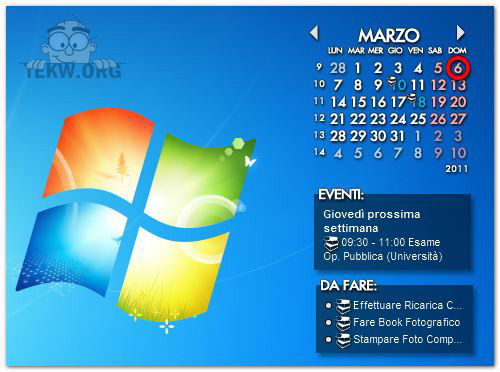 Calendario Per Pc.Fantastico Calendario Agenda Per Il Desktop