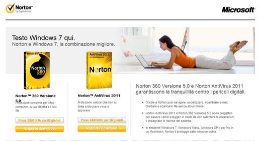 norton free Norton Antivirus 2011 e Norton 360 5.0 gratis per 90 giorni